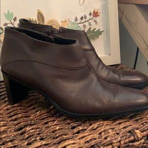 Leather Etienne Aigner leather boots